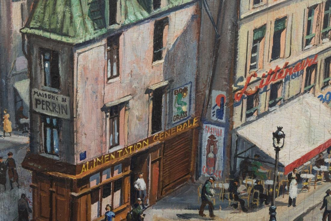 Richard Whorf - Oil on Board - Parisian Street - 4
