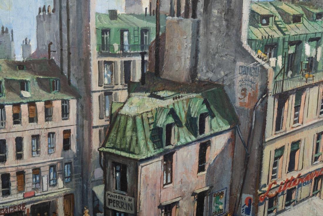 Richard Whorf - Oil on Board - Parisian Street - 5