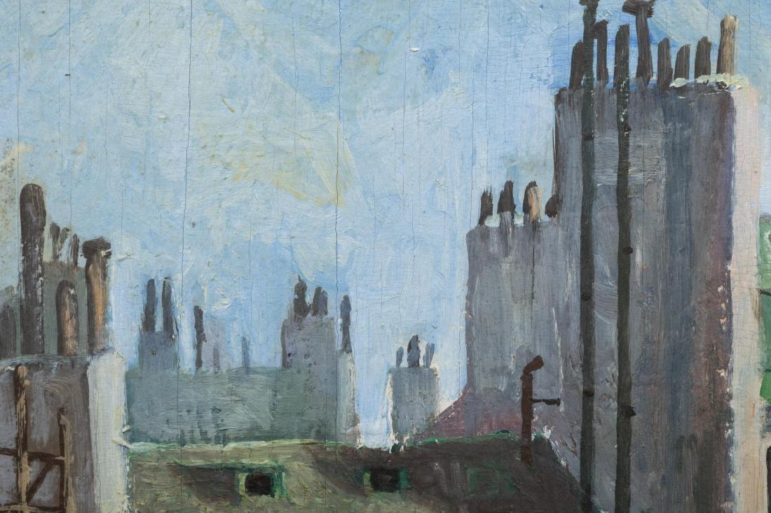 Richard Whorf - Oil on Board - Parisian Street - 6