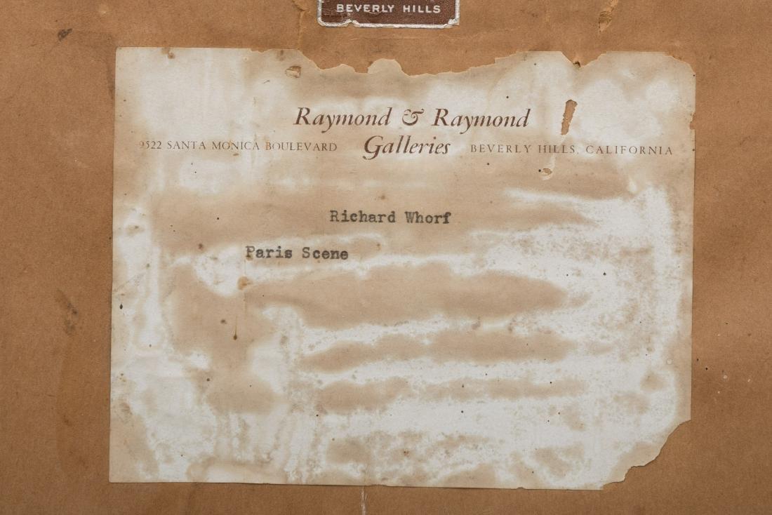 Richard Whorf - Oil on Board - Parisian Street - 7