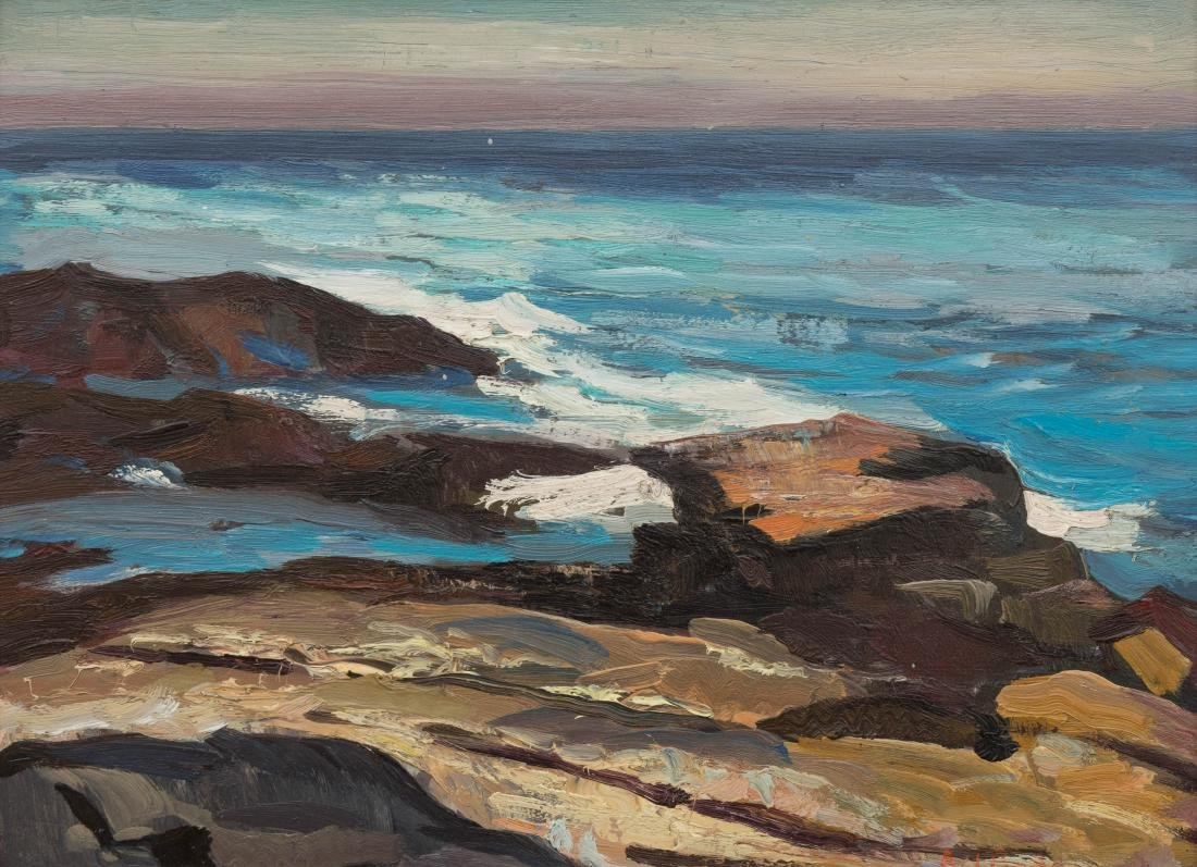 Abraham Bogdanove - Oil on Board - Seascape - 2
