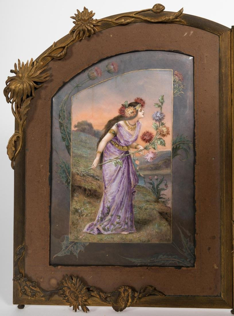 Triptych Enameled Plaque - 5