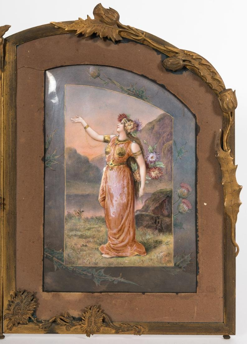 Triptych Enameled Plaque - 8