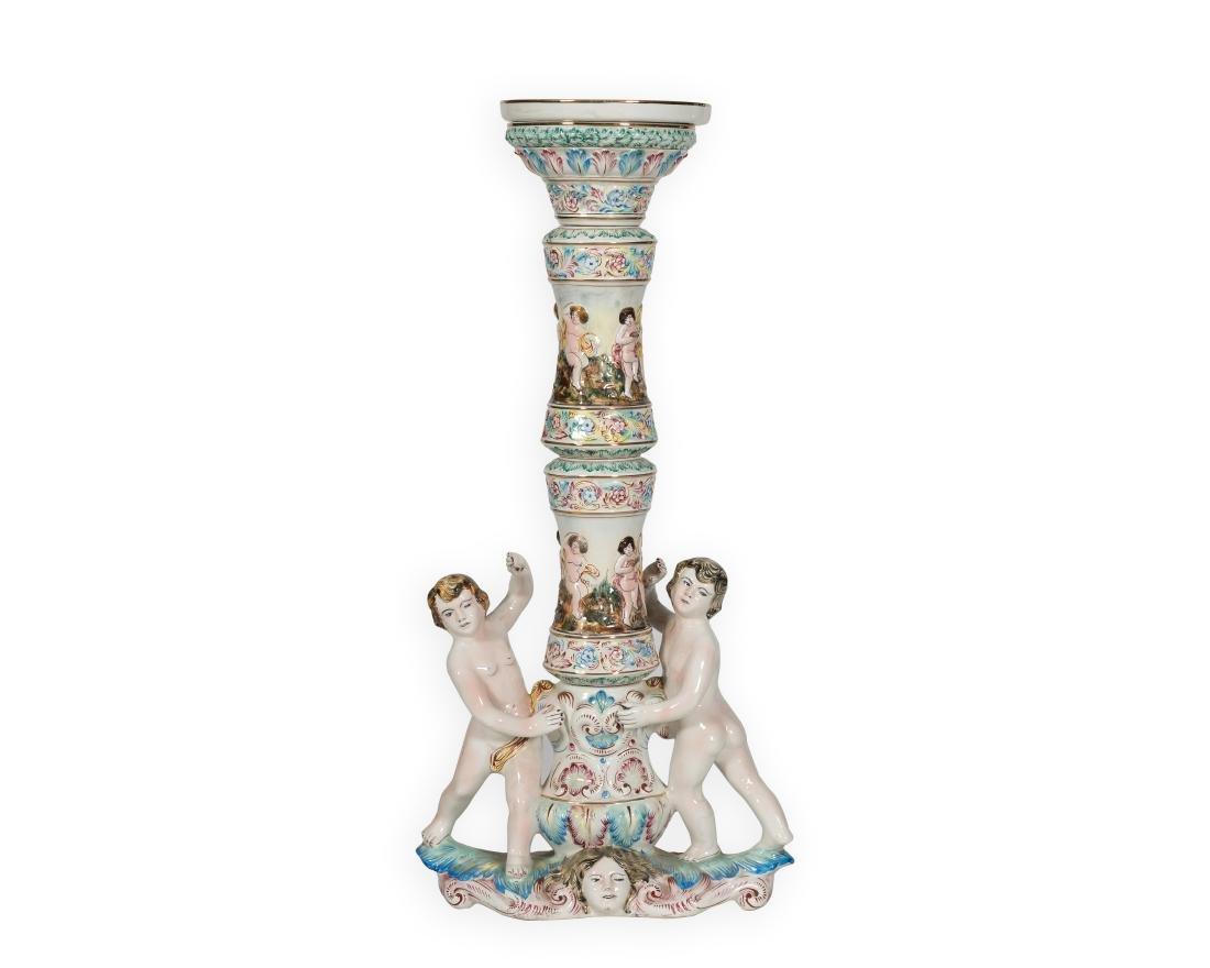Capodimonte Figural Pedestal