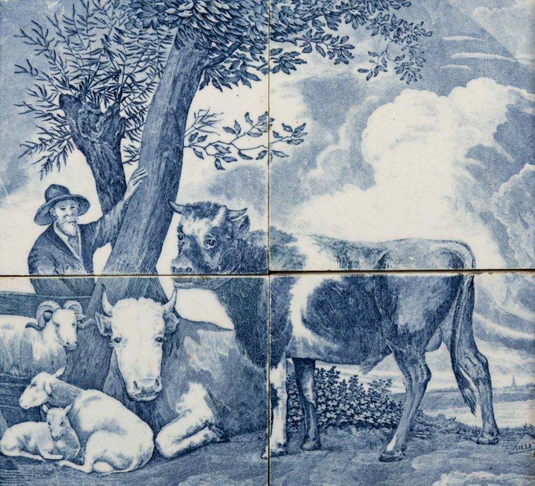 Five Delft Plaques and Tiles - 6