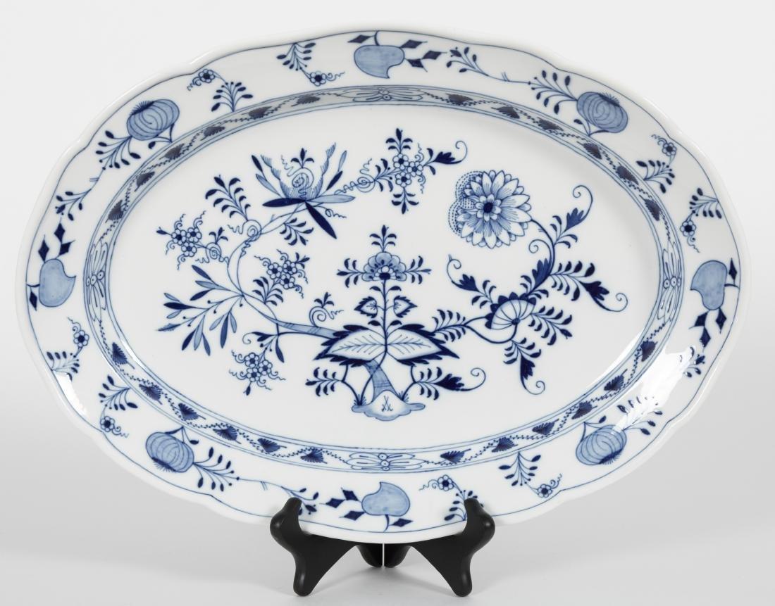 Meissen Blue Onion Platter - Signed