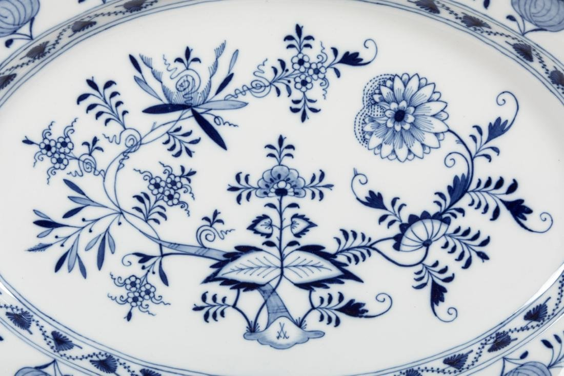 Meissen Blue Onion Platter - Signed - 2