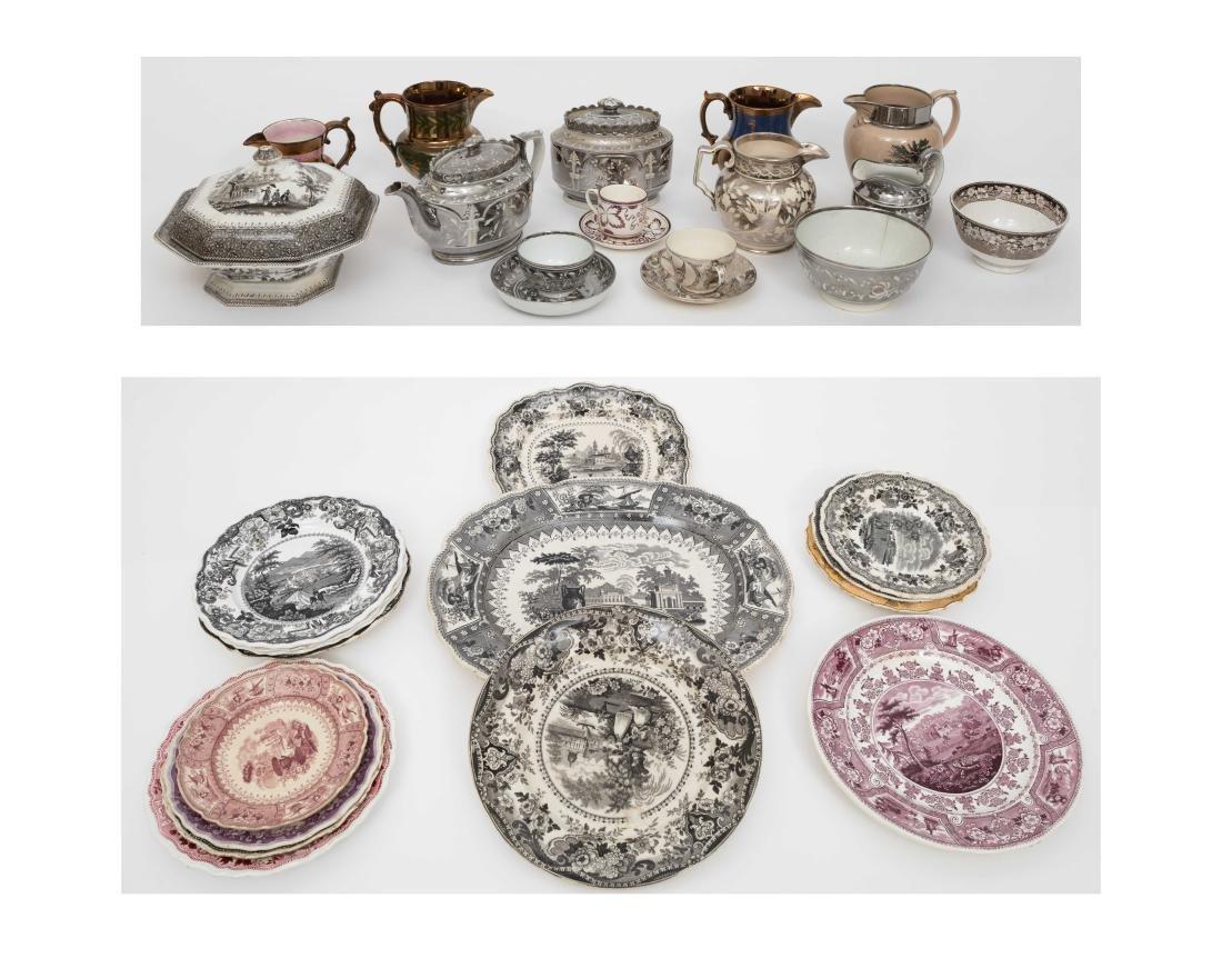 Large Group English Soft Paste Porcelain
