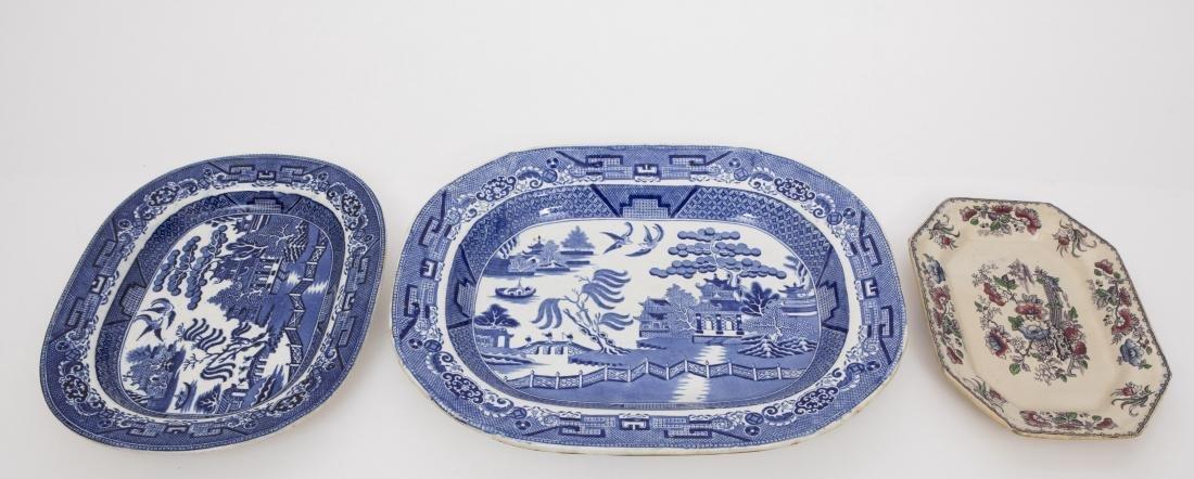 Three Stoneware Platters - Staffordshire & Ava