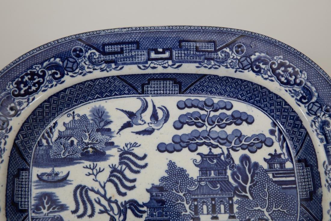 Three Stoneware Platters - Staffordshire & Ava - 7