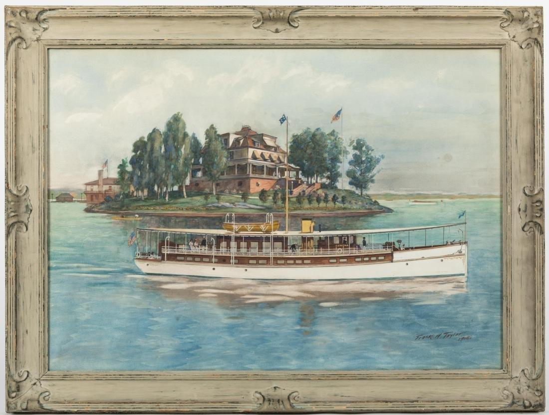 """Frank Hamilton Taylor - Watercolor - """"Rowena"""""""