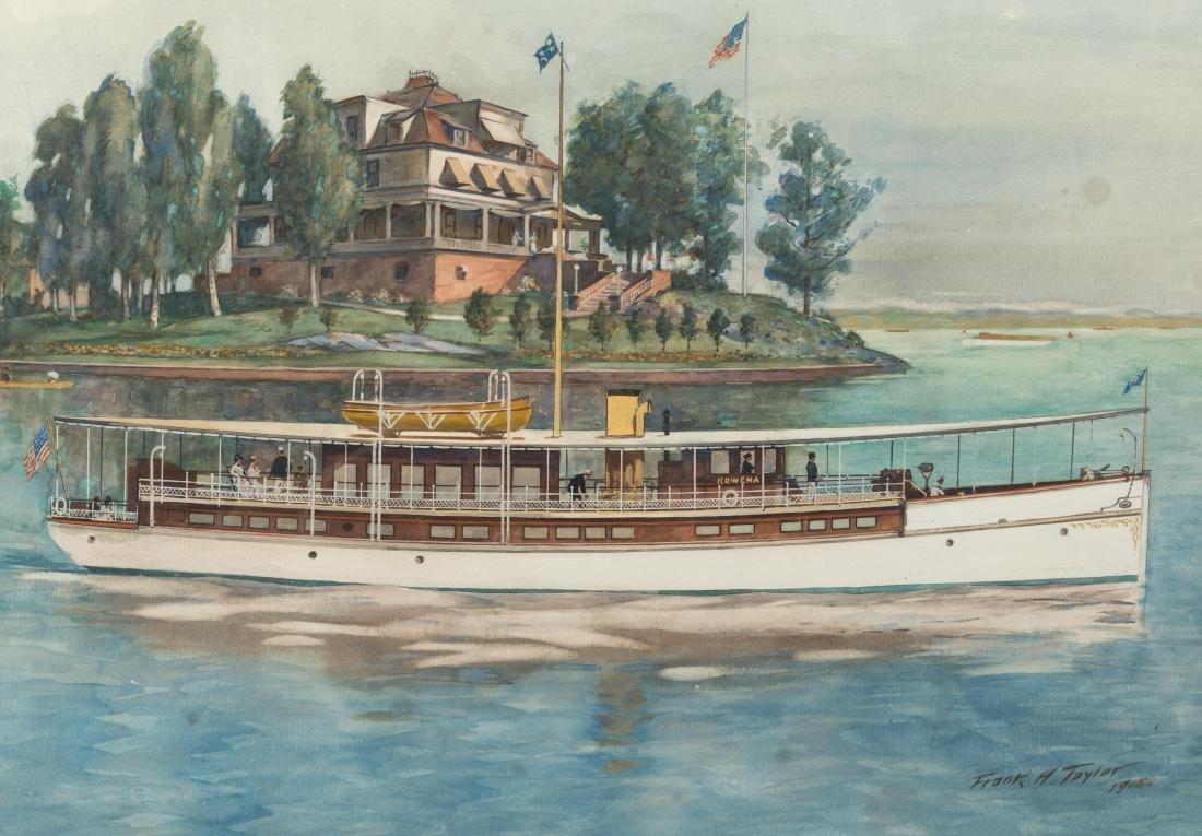 """Frank Hamilton Taylor - Watercolor - """"Rowena"""" - 3"""