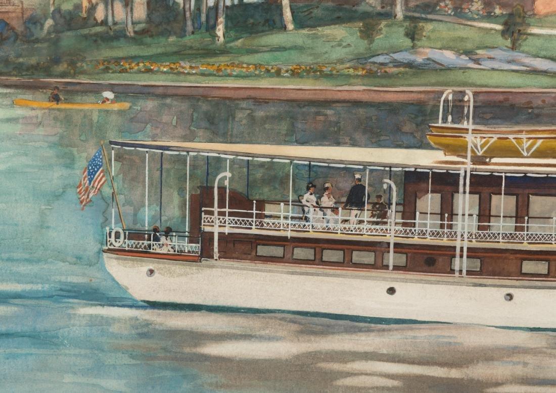 """Frank Hamilton Taylor - Watercolor - """"Rowena"""" - 4"""