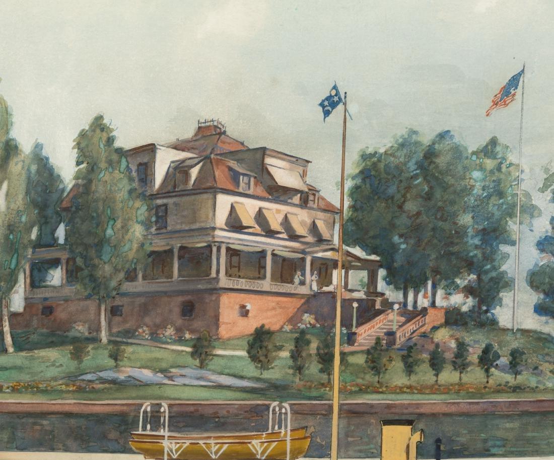 """Frank Hamilton Taylor - Watercolor - """"Rowena"""" - 5"""