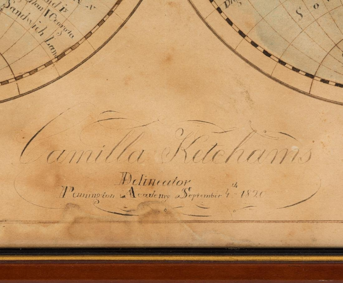 19th Century Hand Painted Terrestrial Map - 2