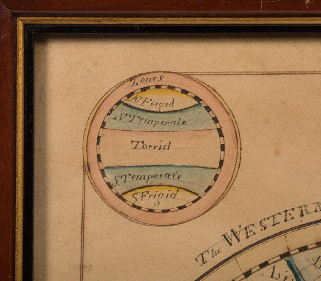 19th Century Hand Painted Terrestrial Map - 5