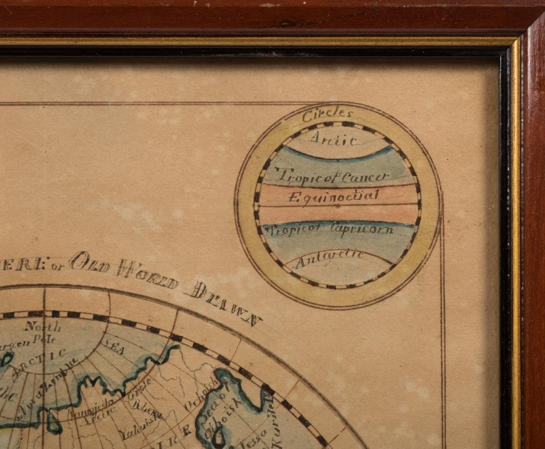 19th Century Hand Painted Terrestrial Map - 6