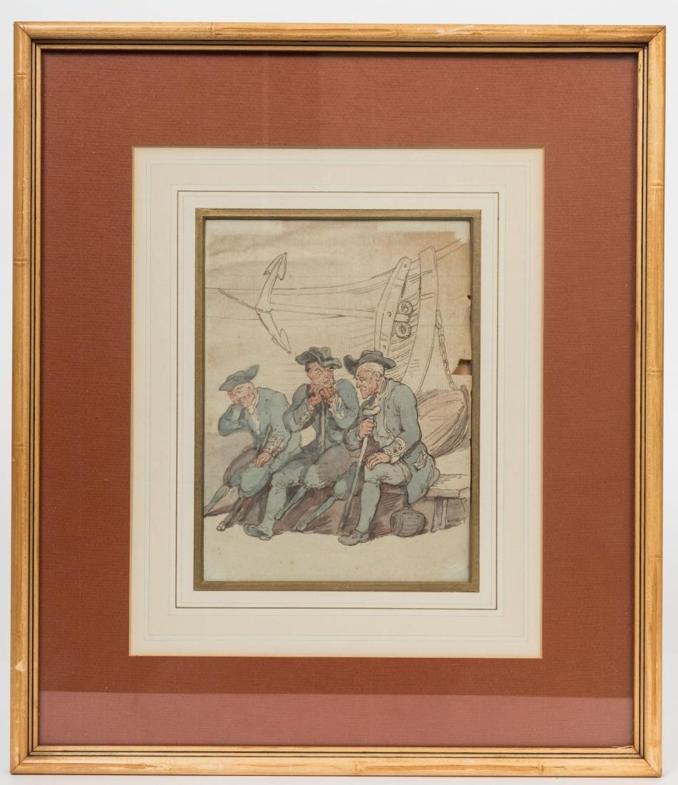 19th Century Watercolor - Poem Verso