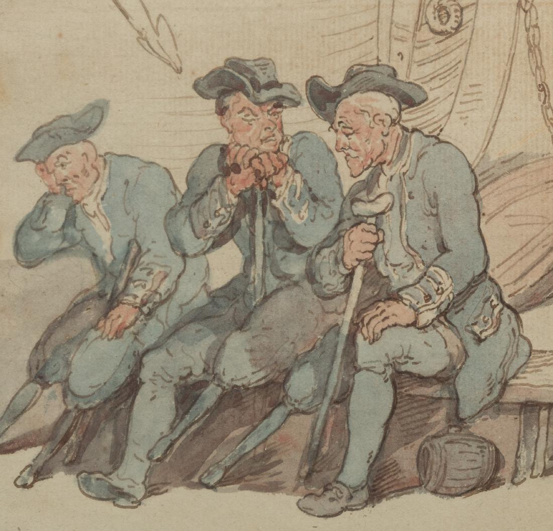 19th Century Watercolor - Poem Verso - 2