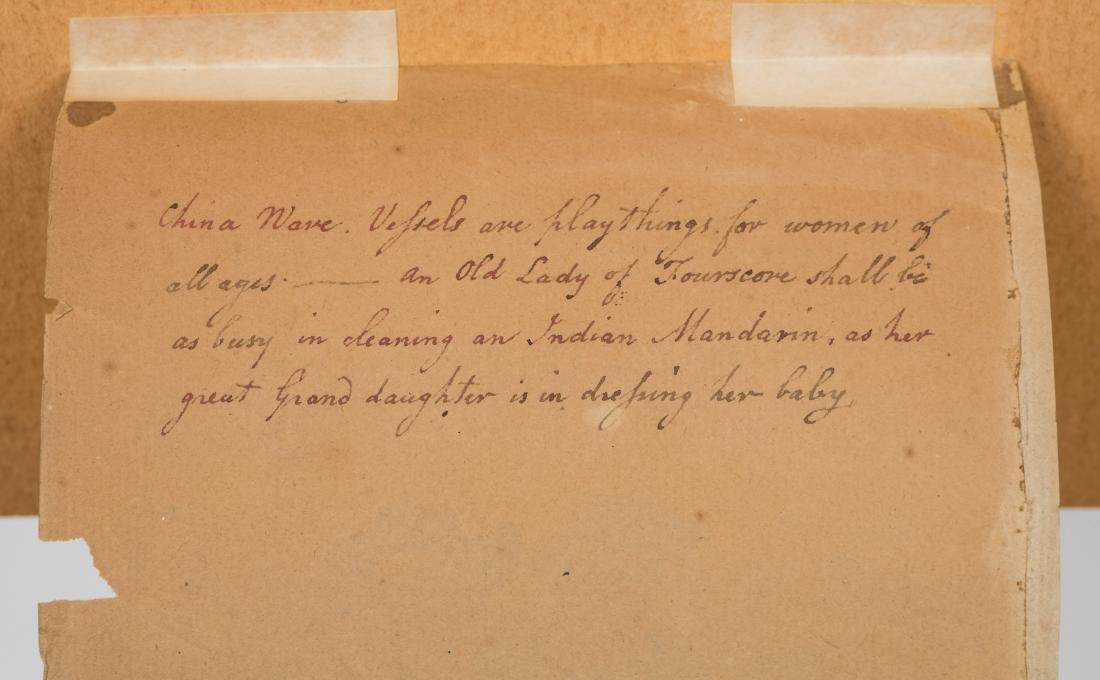 19th Century Watercolor - Poem Verso - 5