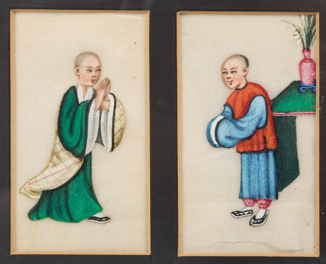 Chinese Tetraptych Painting on Rice Paper - 3