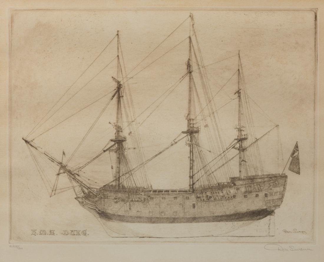 Don Swann - Etching and Nautical Lithograph - 2