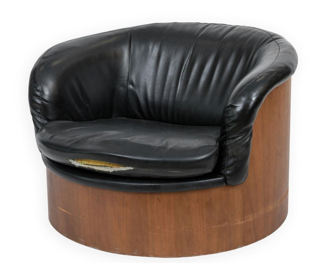 Maurice Villency Swivel Chairs   Signed Plycraft