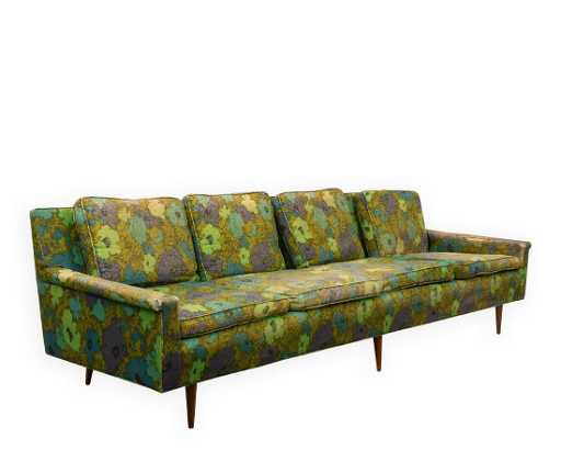 Early Milo Baughman Thayer Coggin Sofa Signed See Sold Price