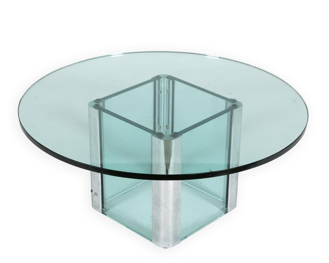 Leon Rosen for Pace Glass Coffee Table