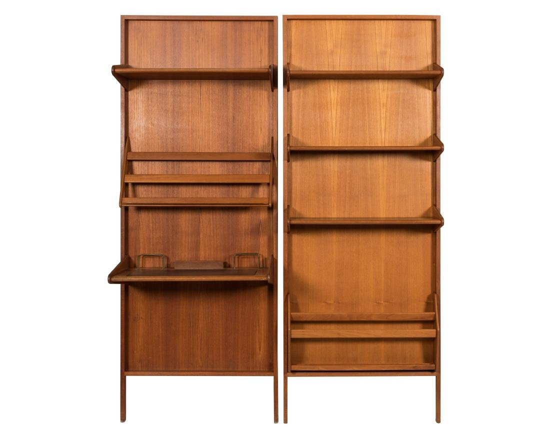Raymor Teak Wall Desk and  Matching Bookcase