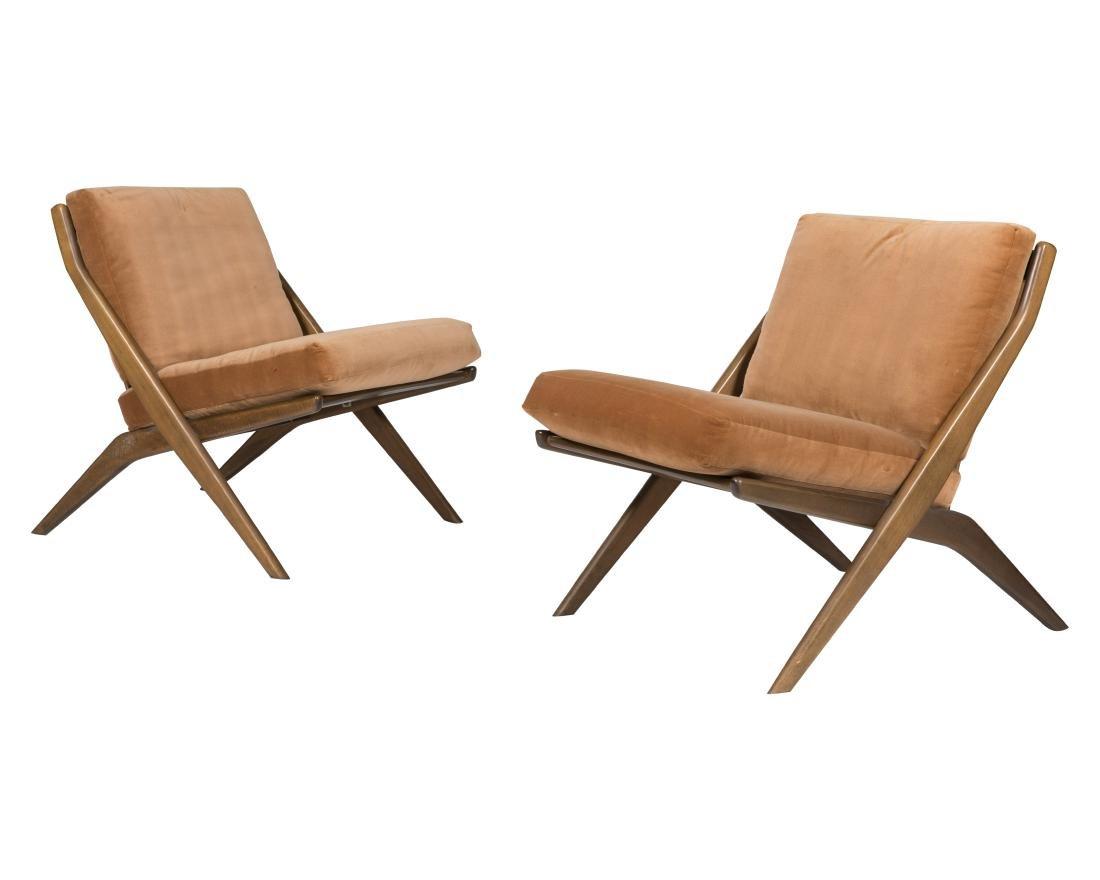 Folke Ohlsson for DUX Scissor Chairs - Signed