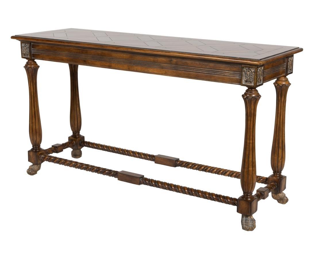 Claw Foot Parquet Sofa Table