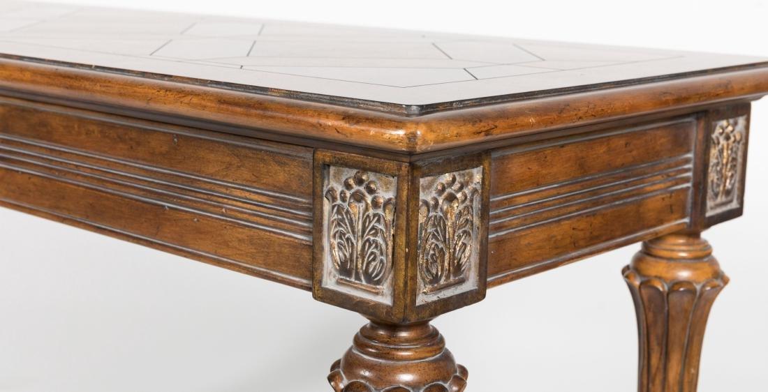 Claw Foot Parquet Sofa Table - 3