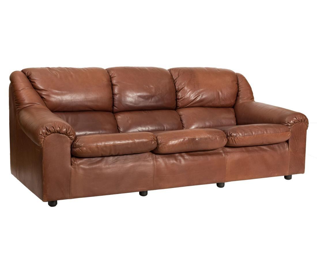 Roche Bobois Leather Sofa
