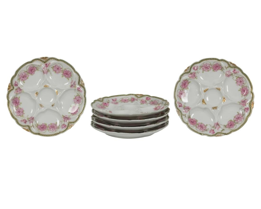 Six Theodore Haviland Limoge Oyster Plates