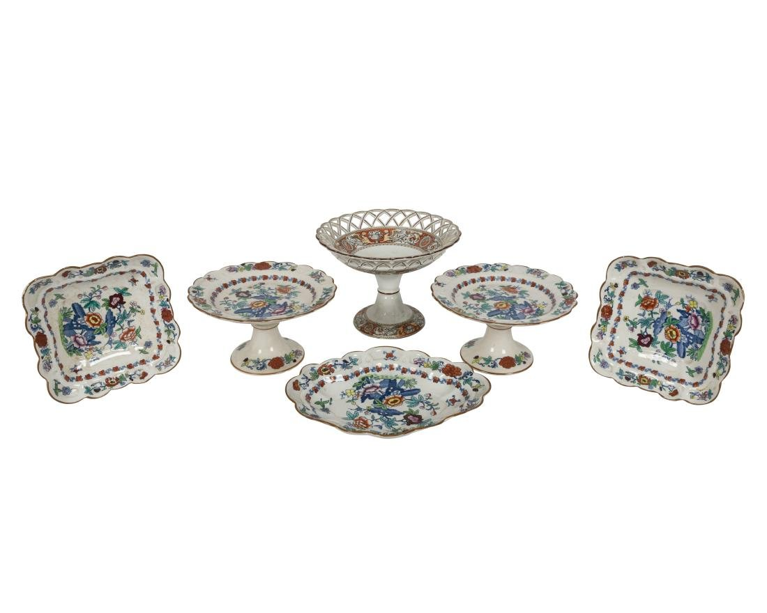 English Soft Paste Compotes and Serving Pieces - 2