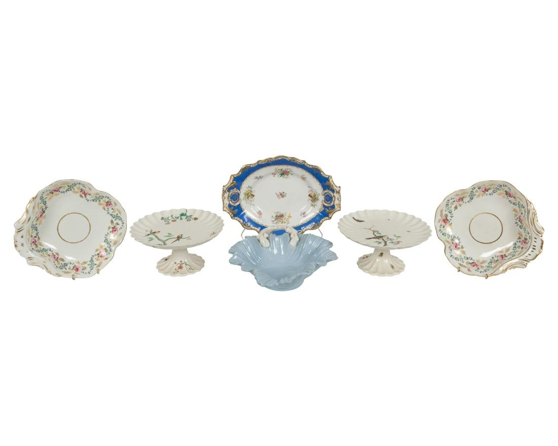 English Soft Paste Compotes and Serving Pieces - 3