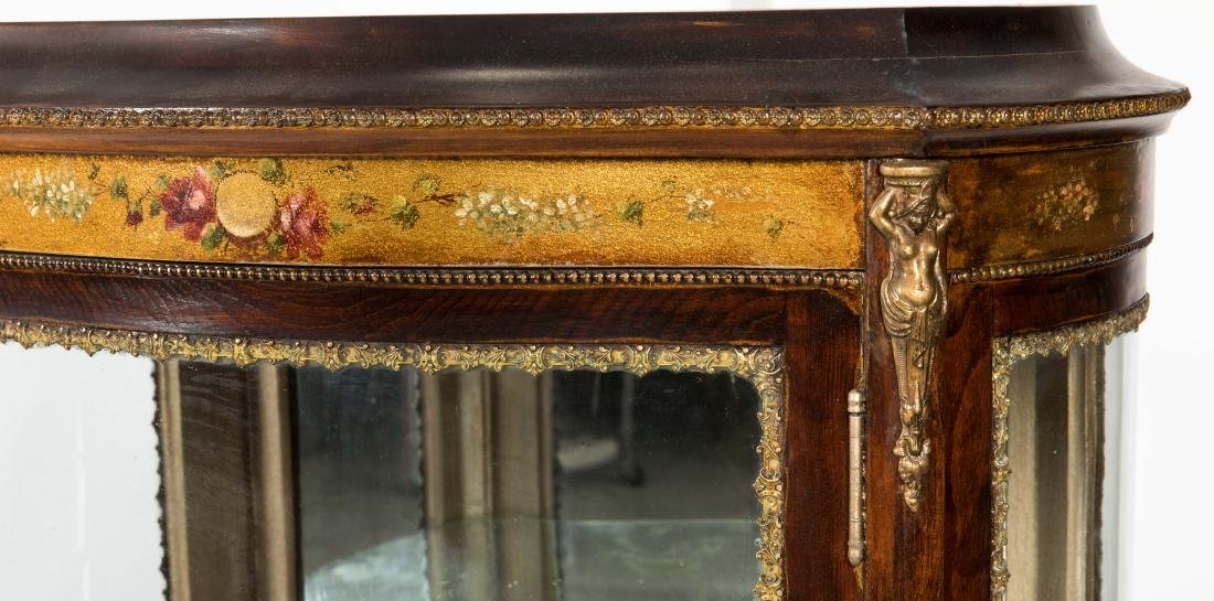 French Curved Glass Vitrine Cabinet - 2