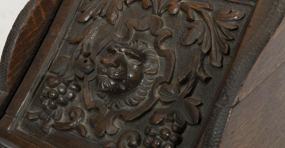 Carved Victorian Coal Scuttle - 2
