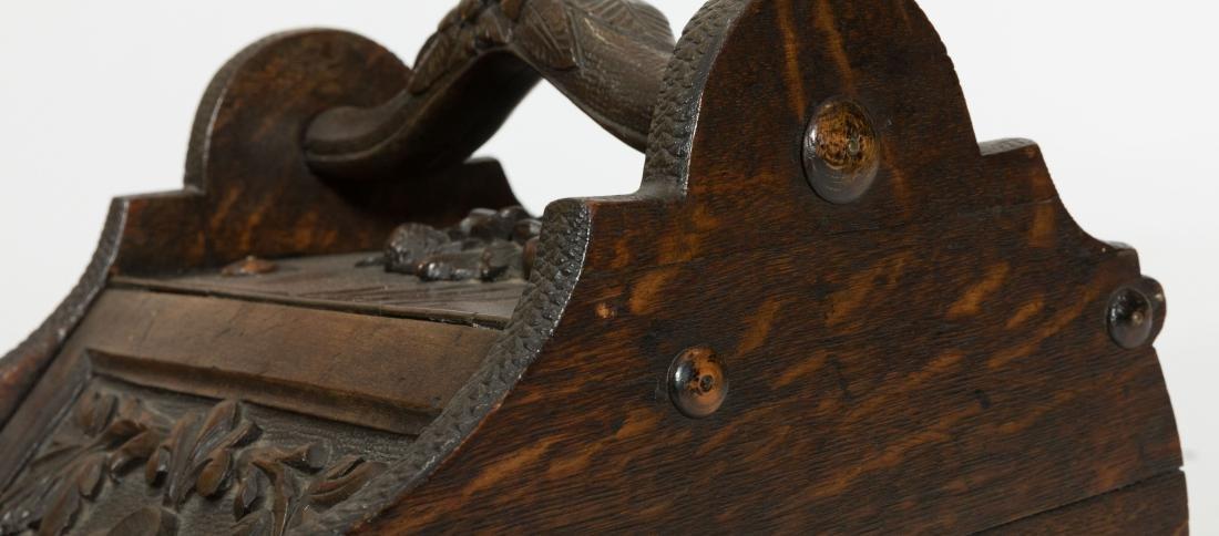 Carved Victorian Coal Scuttle - 3