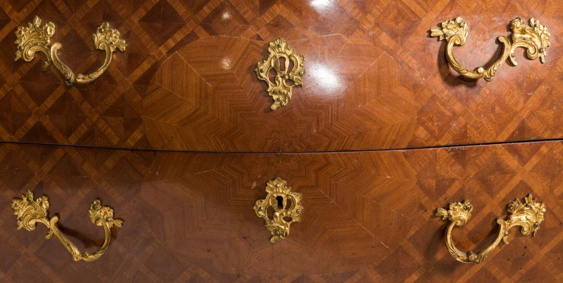 French Bombe Marble Top Chest - 5