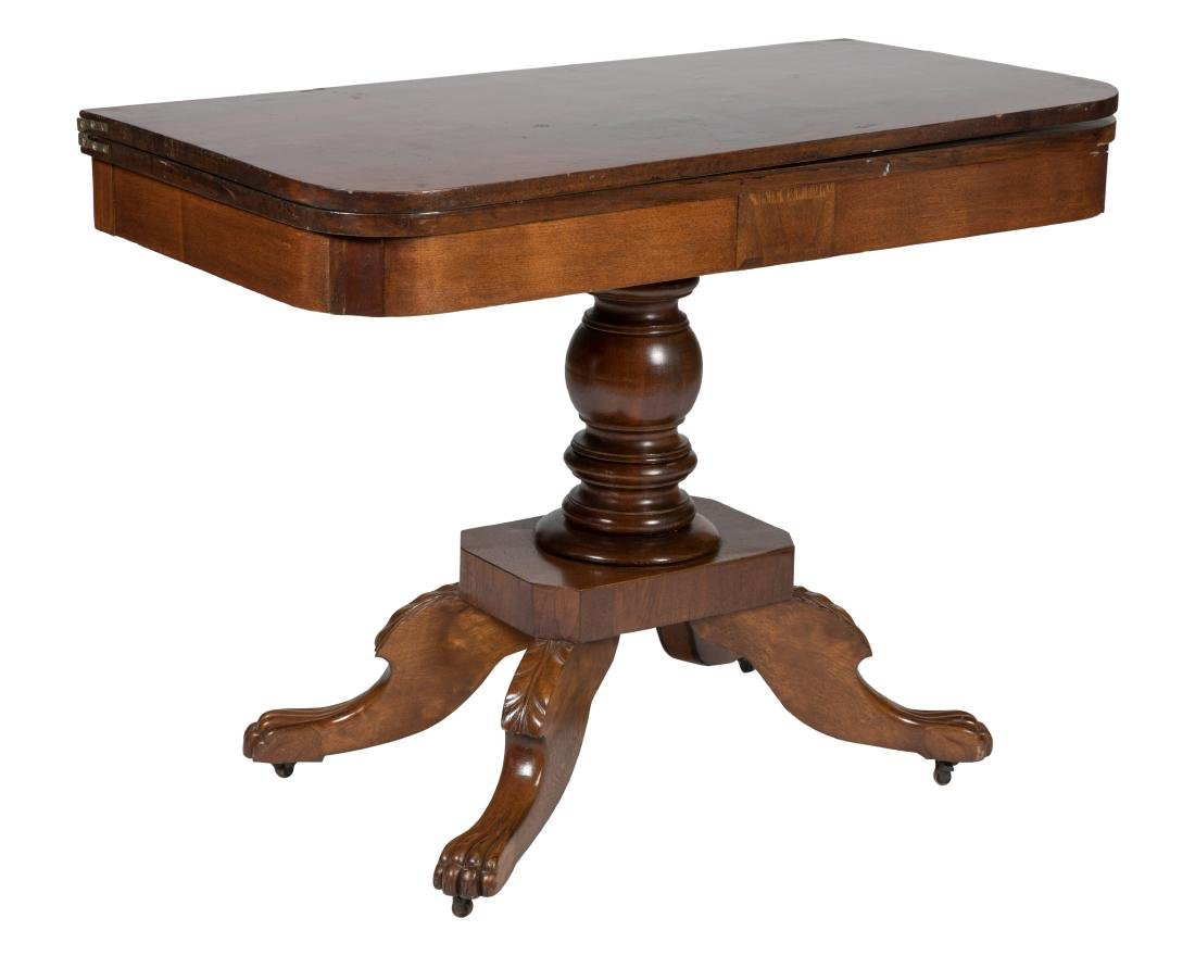 Mahogany Claw Foot Console Table