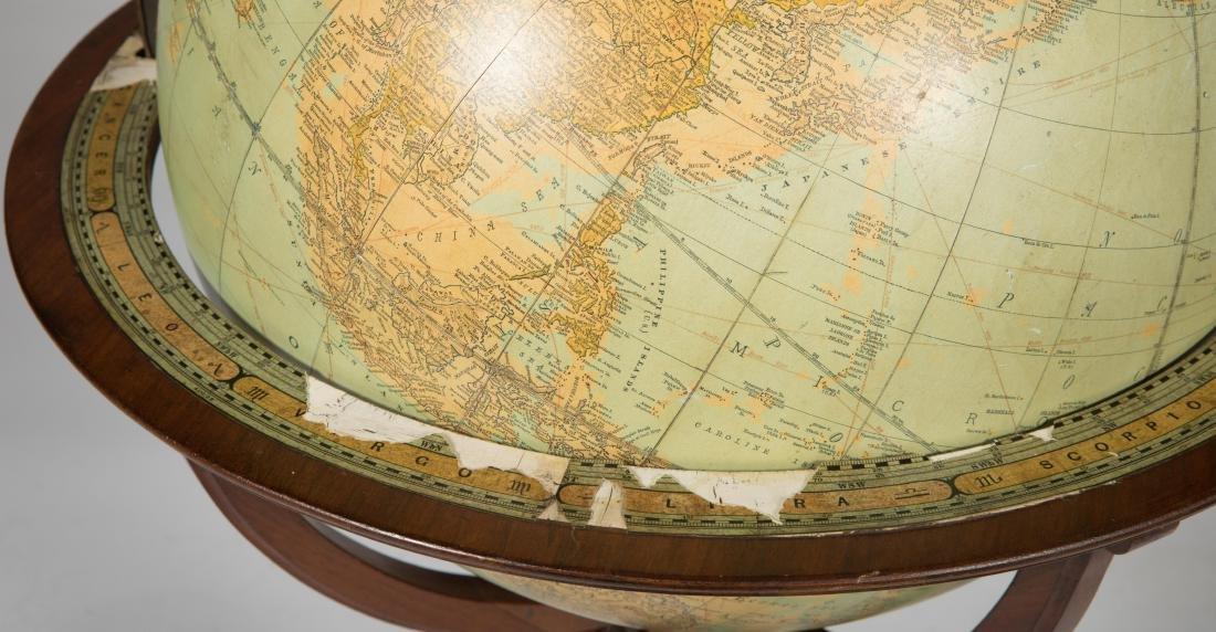 Mahogany Globe on Sand - 2