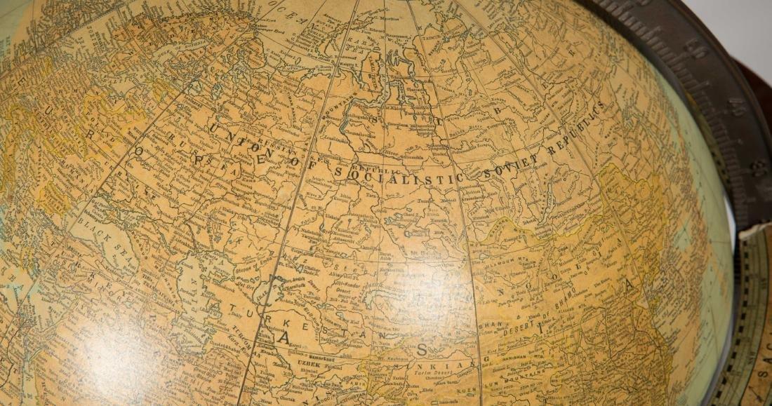 Mahogany Globe on Sand - 3