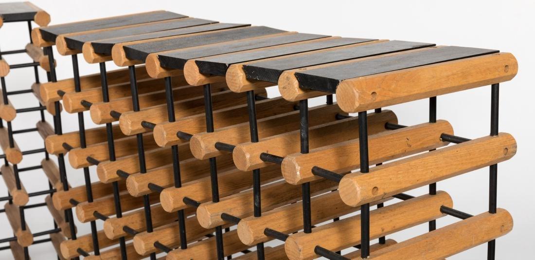 Pair Wooden Wine Racks - 2
