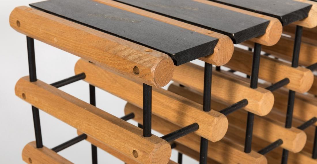 Pair Wooden Wine Racks - 3