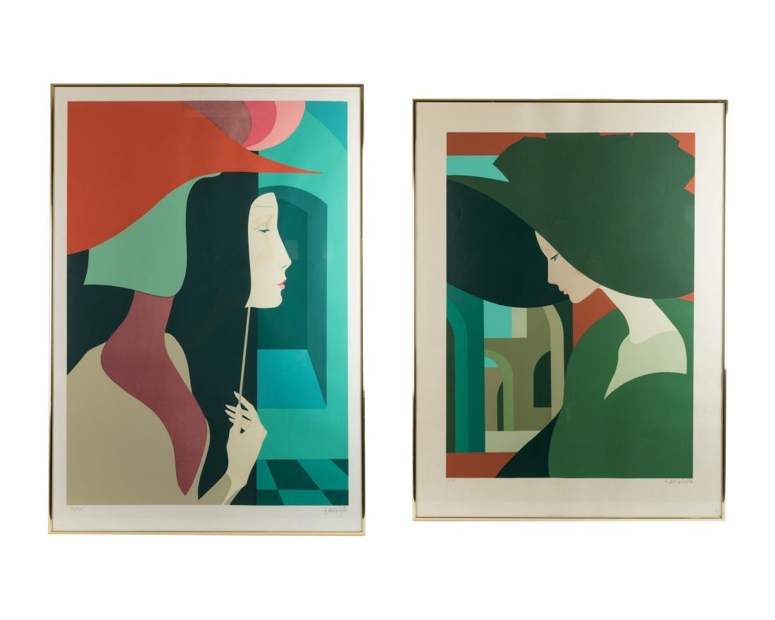 Two Amleto Dalla Costa Serigraphs - Signed