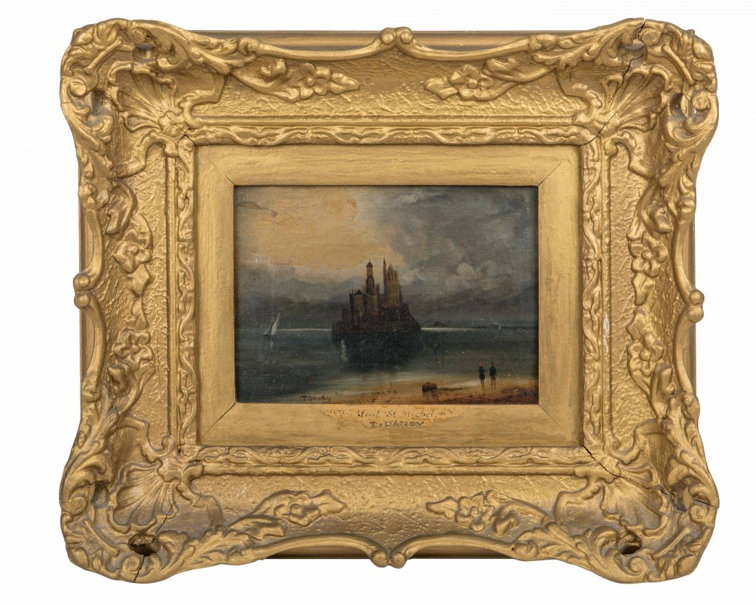 Oil on Canvas - Mont St. Michel - Signed T. Danby