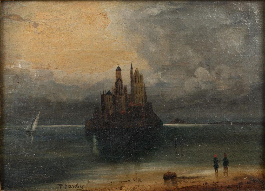 Oil on Canvas - Mont St. Michel - Signed T. Danby - 2