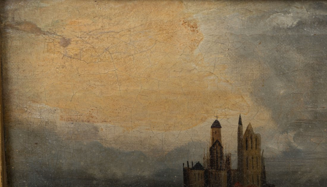 Oil on Canvas - Mont St. Michel - Signed T. Danby - 3